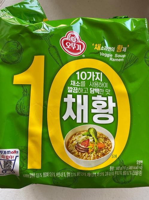 Ottogi  Chae Hwang Veggie Soup Ramen 200gx4pcs