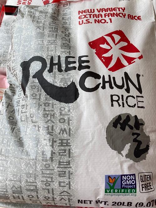 Rhee Chun Sushi Rice 20LB