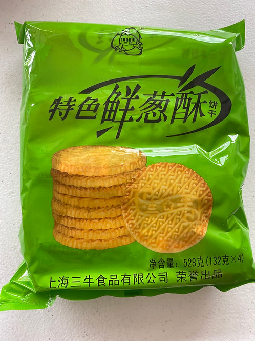 WNQ Shallot Flav Biscuit 特色鲜葱酥528g