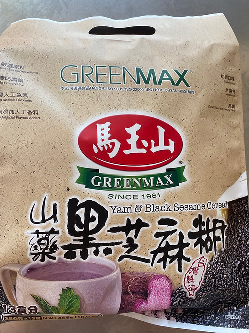 GreenMax Yam & Black Sesame Cereal 马玉山山药黑芝麻糊35gx13pks