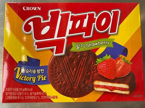 Crown Strawberry Choco Pie 216g