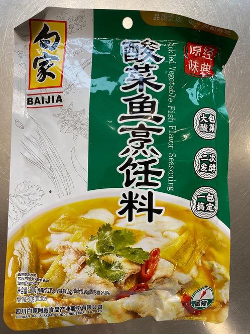 BJ Condiment-Pickled Vegetable Fish Dish 300g白家酸菜鱼烹饪料