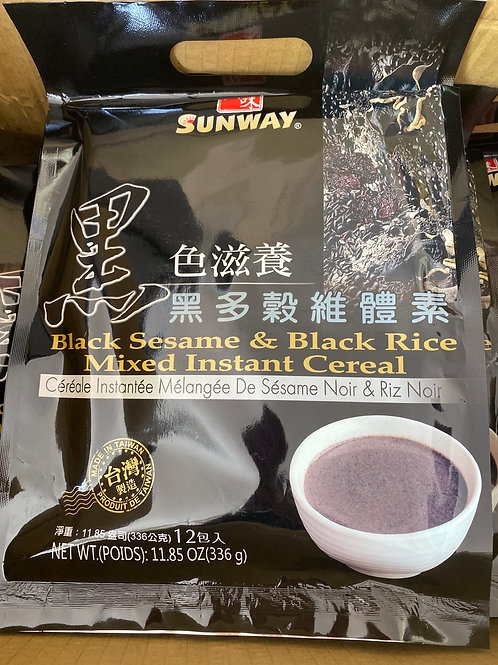Sunway Black Sesame & Black Rice Mixed Instant Cereal黑色滋养芝麻糊