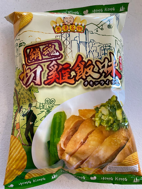 Calbee Potato Crisps Hainan Chicken Rice Flav 卡乐B 姜蓉切鸡饭味薯片