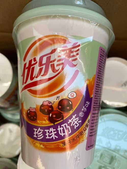 ST Instant Milk Tea Taro Flav With Tapioca Pearl优乐美芋香珍珠奶茶