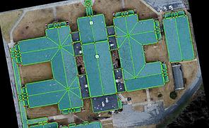 Roof survey drone mesurments