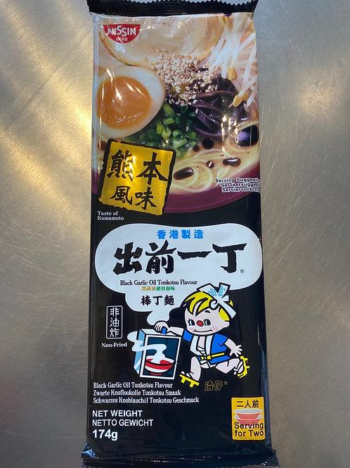 Nissin Black Garlic Oil Tonkotsu Flav 出前一丁棒丁面黑蒜油猪骨汤味