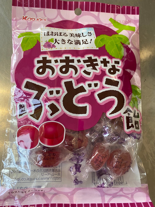 Kasugai Okina Budo Ame Big Grape Candy 126g