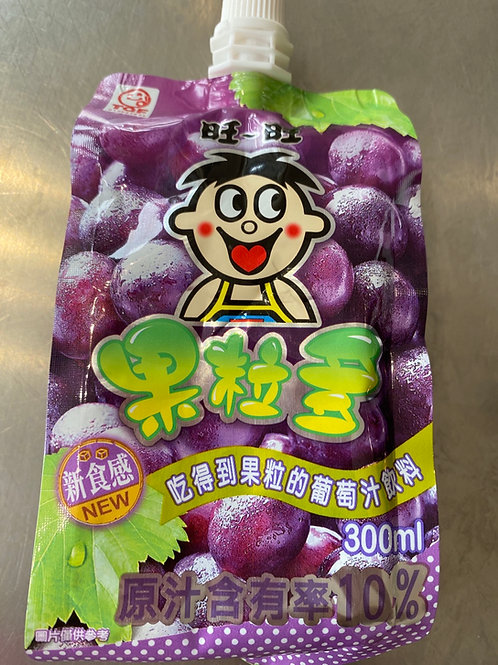 WW Grape Flav Jelly Juice Drink 旺旺果粒多葡萄味