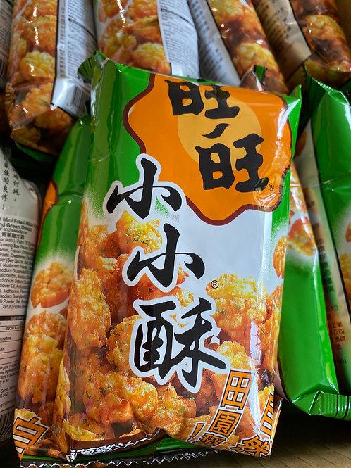 WW Mini Fried Rice Crackers Chicken & Green Onion Flav 旺旺小小酥香蔥雞汁味