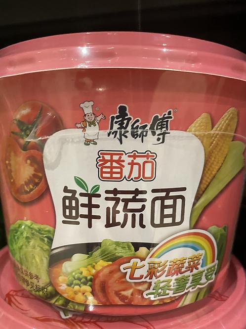 KSF Vegetable Noodles Tomato Flav 康师傅番茄鲜蔬面