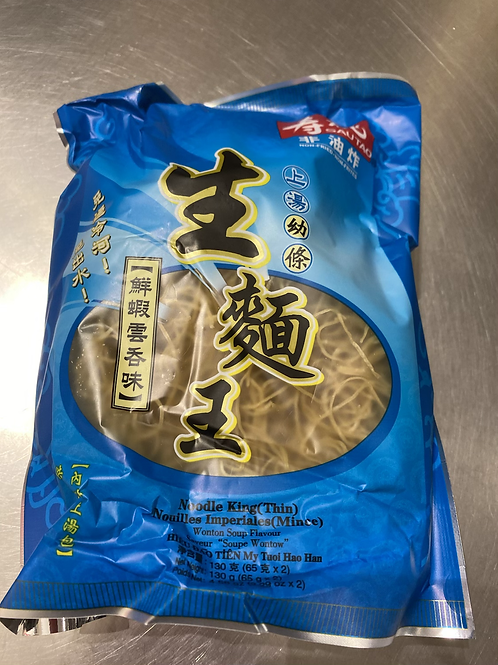 ST Noodle King Thin- Wonton Flav寿桃生面王鲜虾云吞130g