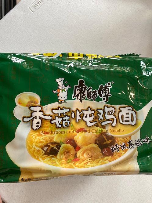 KSF Chicken & Mushroom Flav Noodle 5pcs 康師傅香菇燉雞面