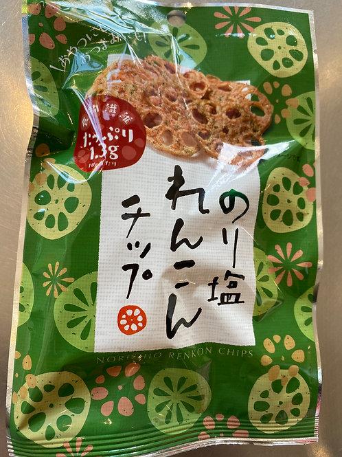 Sokan Nori Shio Seaweed Salt Flav Lotus Crisps 18g
