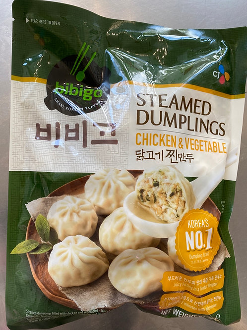 CJ Bibigo Chicken & Vegetable Steamed Dumplings 560g