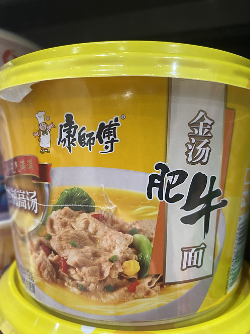 KSF Beef Golden Soup Noodle Bowl 康师傅金汤肥牛 112g