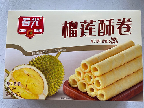CG Durian Wafer Roll 春光榴槤酥卷