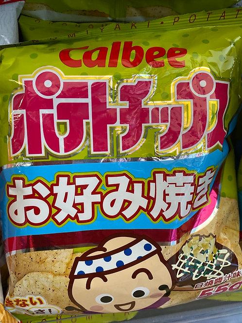 Calbee Potato Chips Okonomiyaki