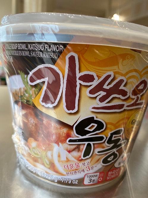 Wang Udon Noodle Soup Bowl Katsuo Soup Flav 鲣鱼乌冬汤面