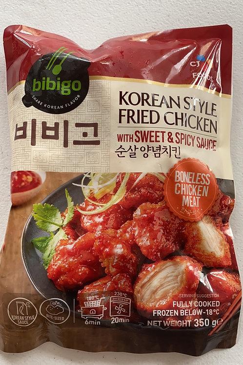 Bibigo Korean Style Fried Chicken With Sweet & Sour Sauce  350g