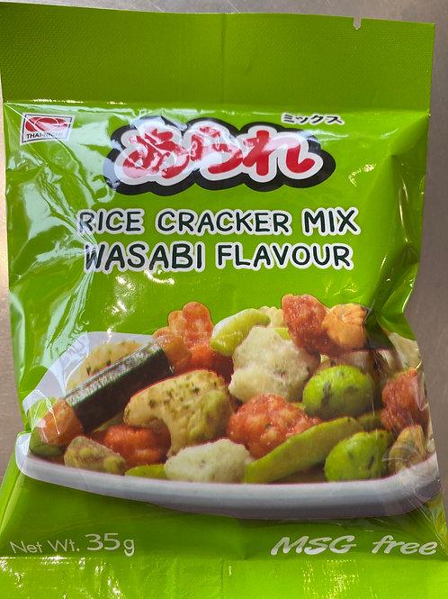 Japanese Rice Cracker Mix Wasabi Flav 35g