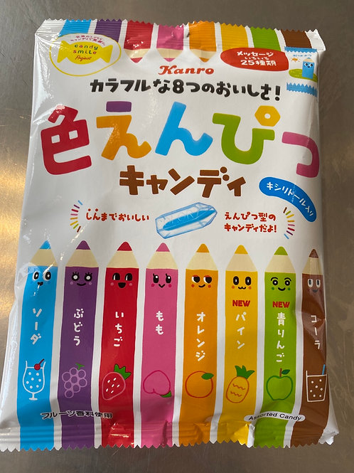 Kanro Colour Pencil-Shaped Boil Sweets