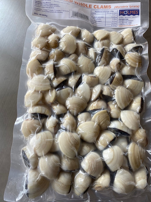 HOLMES Whole Shell Cooked Clam 蚬子1KG
