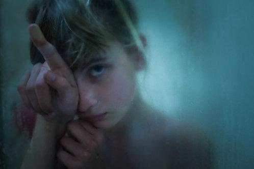 'Girl Behind Glass' A4 Print