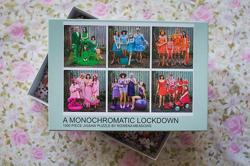 A Monochromatic Lockdown - 1000 piece puzzle