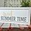 Thumbnail: Hello Spring, Sweet Summertime Reversible Wood Sign Decor
