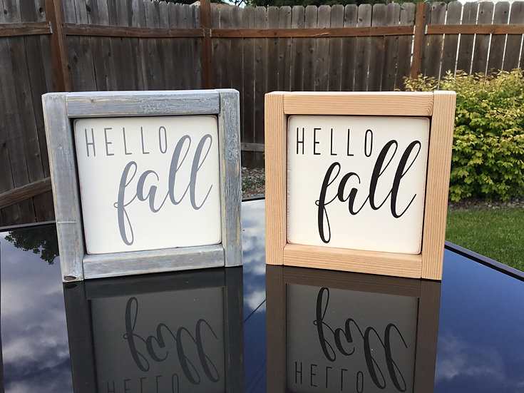 "Mini 5x5"" Reversible Insert: hello fall/our cheeks"
