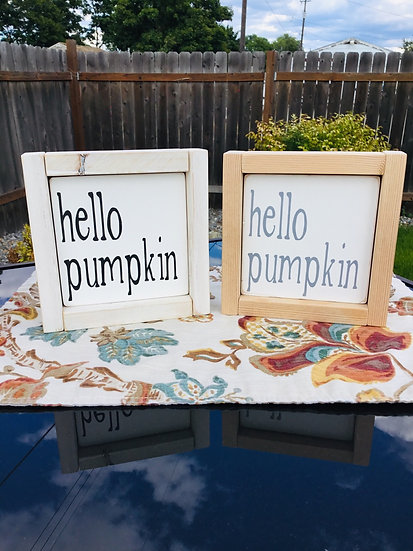 "Mini 5x5"" Reversible Insert: hello pumpkin/carols"