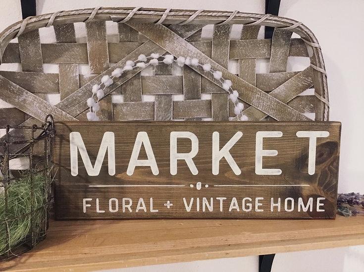 Market/Floral +Vintage Home