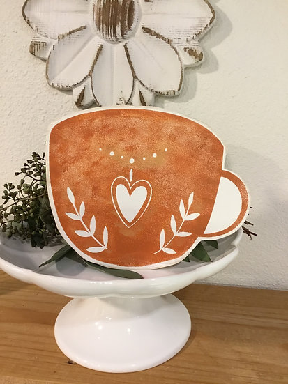 Coffee cup cut out/ Tea cup cut out