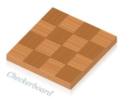 Checkerboartd Parkettmuster