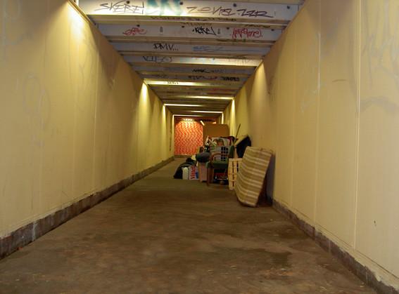 Le tunnel avant sa destruction