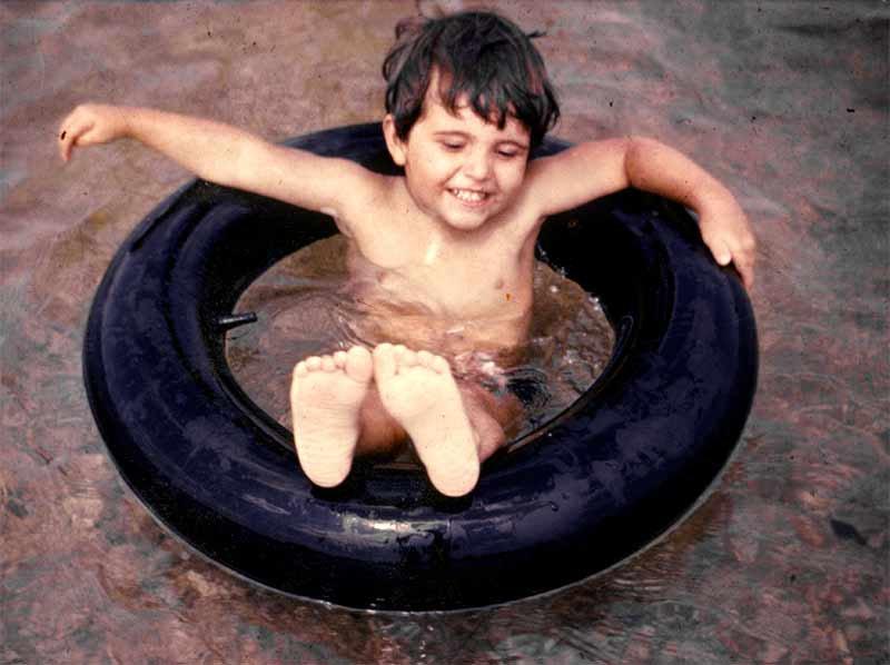 Gaspar Noé as a child