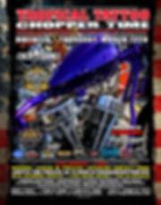 Tropical Tattoo Choppe Time Old School Chopper Show Bikeweek Thursday March 12, 2020 poster.