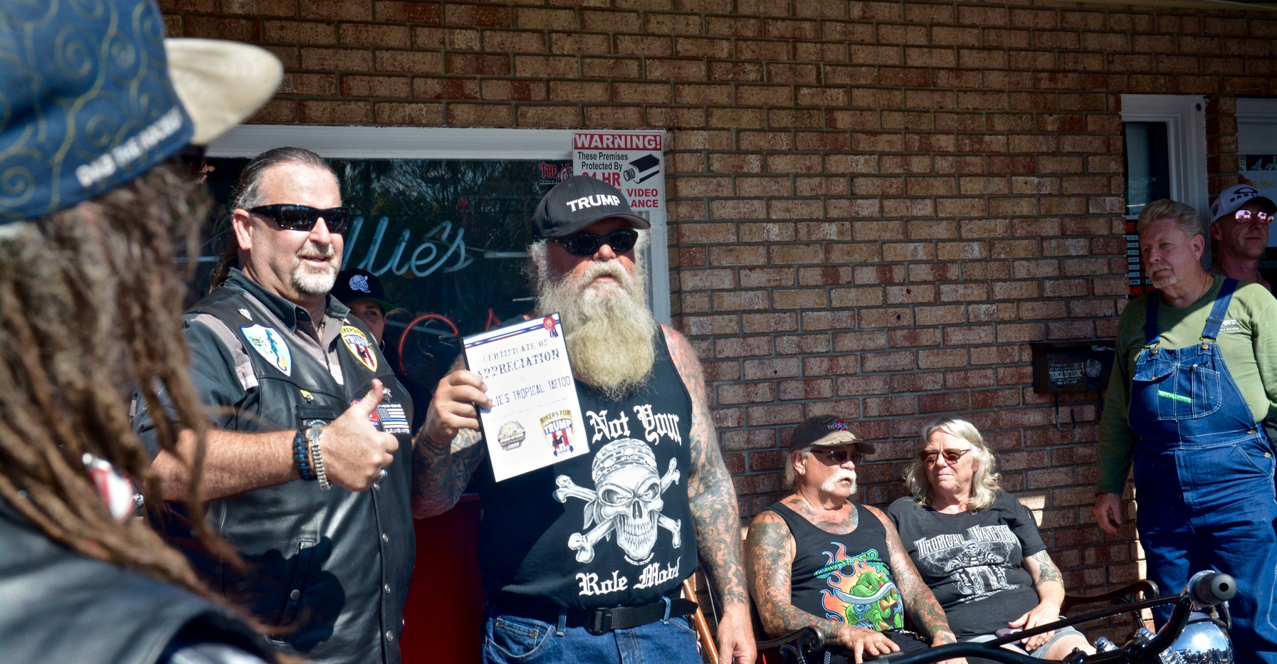 Certificate of Appreciation - Bikers for Trump