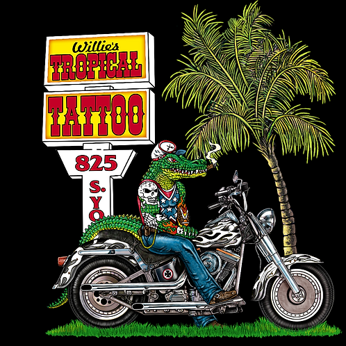 M - Gator Biker T-Shirt