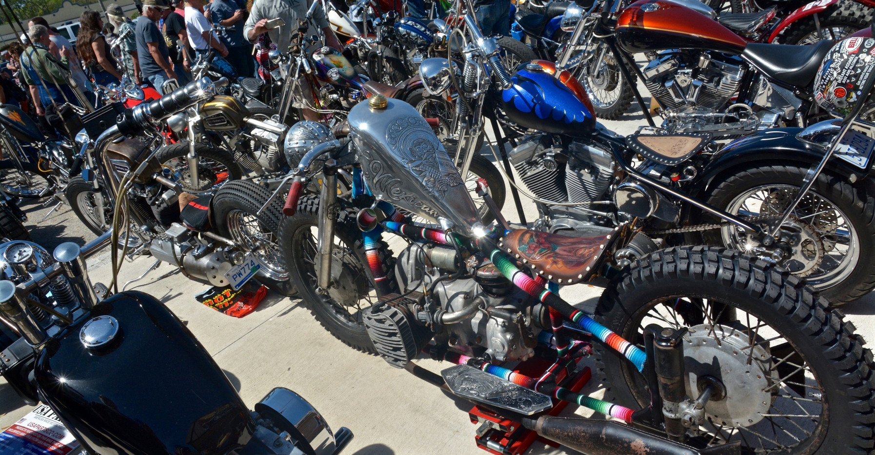 Just some of the bikes.