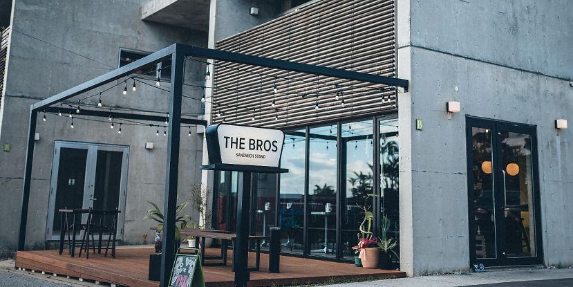 The Bros sandwich stand banner