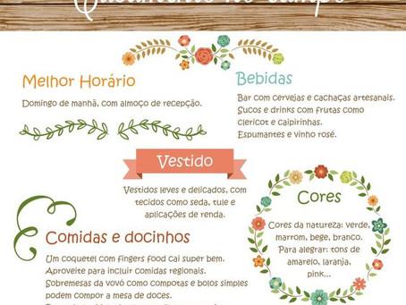 Casamento no campo - Milene Erdmann Cerimonial e Assessoria - Cerimonialista Joinville SC Jaraguá do