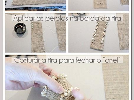 Porta guardanapo rústico! - Milene Erdmann Cerimonial e Assessoria - Cerimonialista Joinville SC Jar
