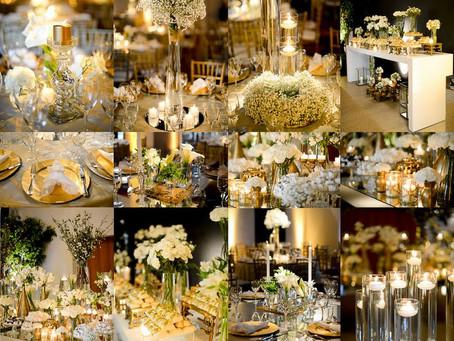 Dourado na Decoração de Casamento Milene Erdmann Cerimonial e Assessoria - Cerimonialista Joinville