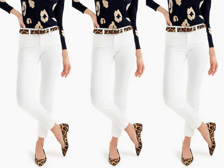 Shopping for White Jeans