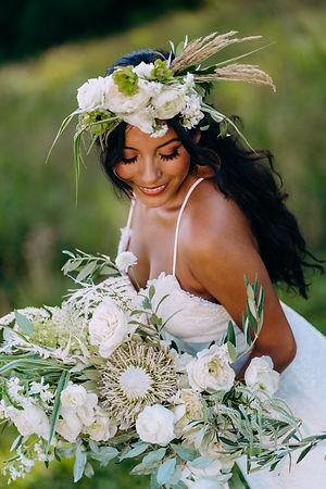 Bride with floral details