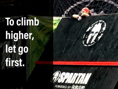 To climb higher, let go first.