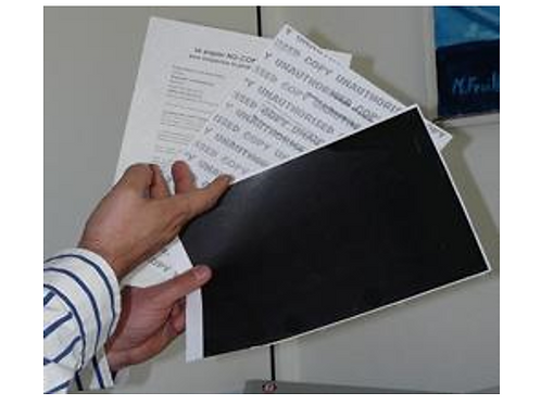 1000 Papier No copy, anti-fraude, Texte + Blockout Standard