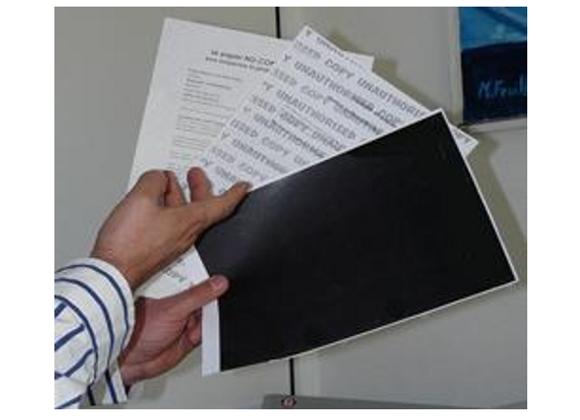 1000 Papier No copy, anti-fraude, Texte + Blockout, Personnalisé